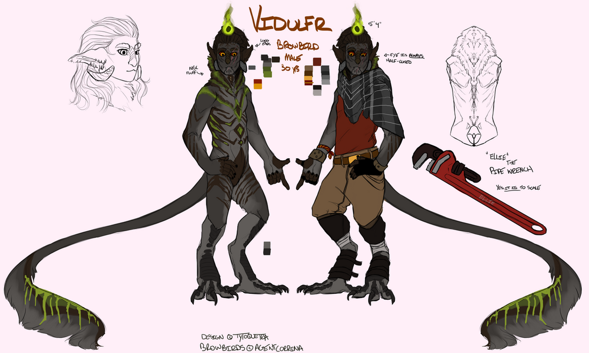 Browbird MYO Entry - Vidulfr by Tytoquetra