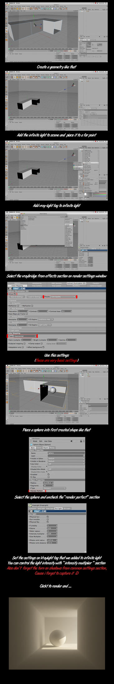 VrayforC4D Basic Tutorial by lzooml