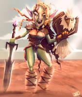 Eagle Trainer Orc Girl by JakkeV