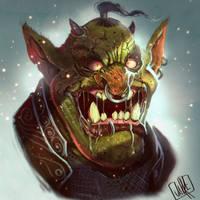 Orc head by JakkeV