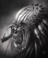Predator sketch by JakkeV
