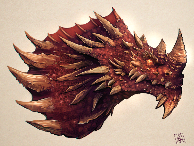 Dragon Sketch by JakkeV