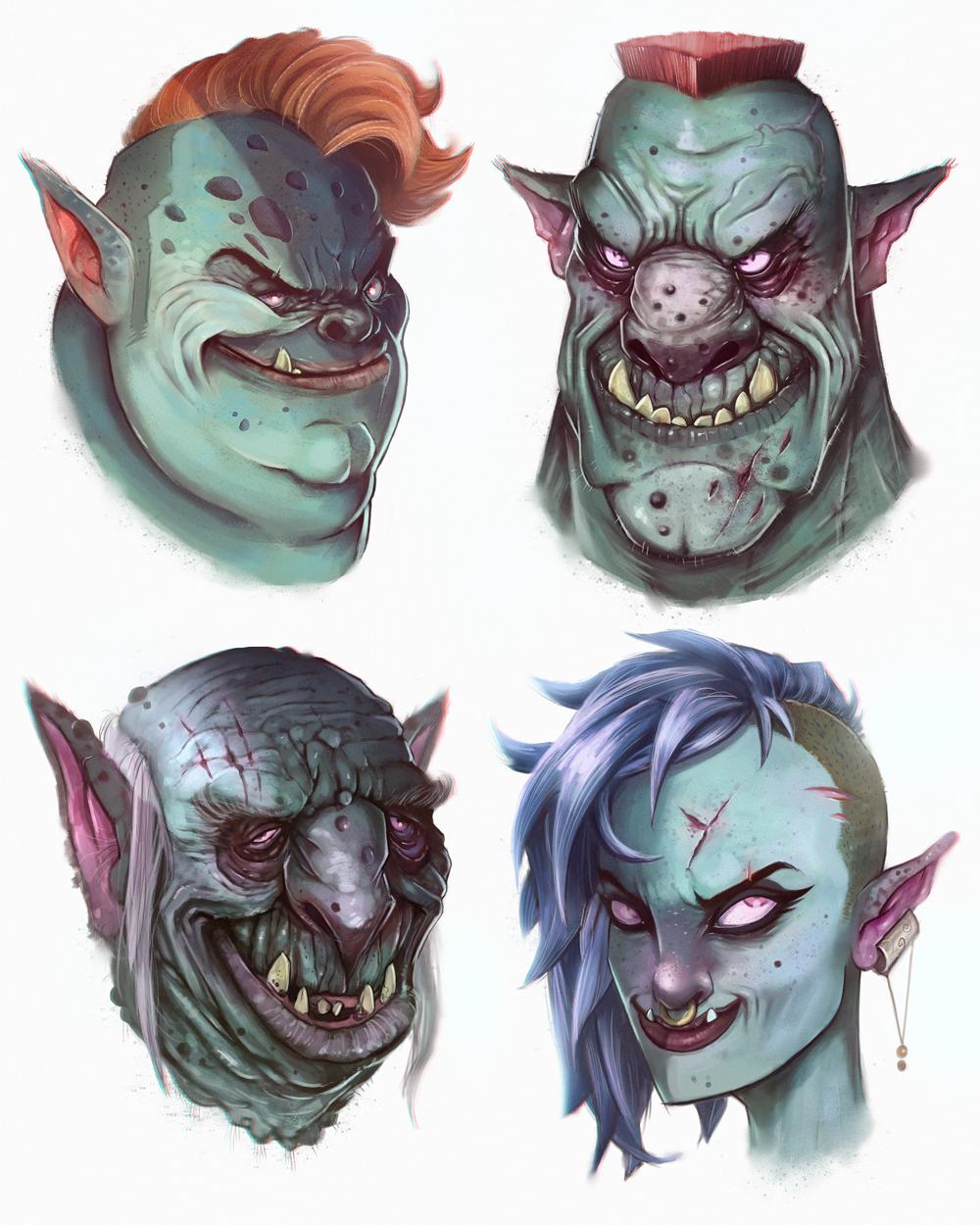 Orc Heads by JakkeV