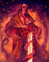 Hellboy fanart 2/2 by JakkeV