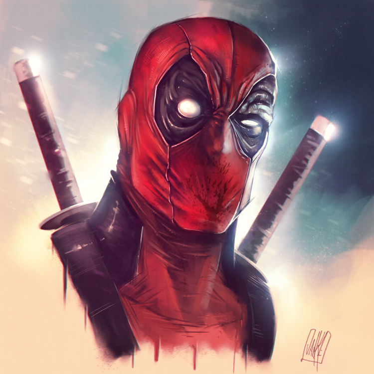 Deadpool sketch by JakkeV