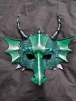 Green Dragon Mask by MummersCat