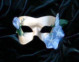 Morning Glory Leather Mask 2 by MummersCat