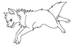 Free Canine Lineart 2 by ChocoberryPocky