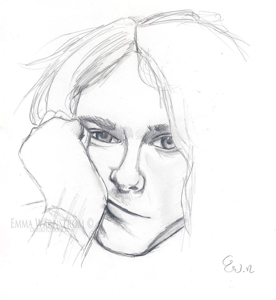 It's just a picture of Breathtaking Drawing Of Kurt Cobain