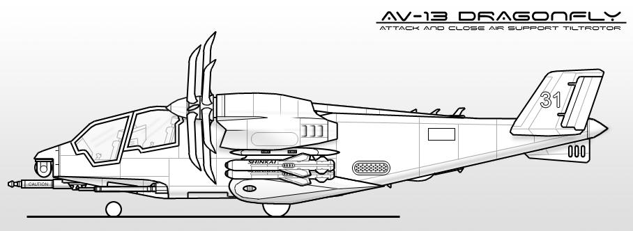 AV-13 Dragonfly by sharp-n-pointy