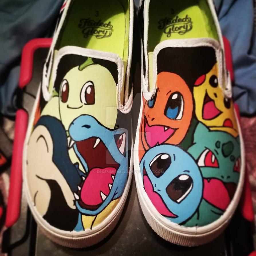 Pokemon starters shoes by DecemberBellz