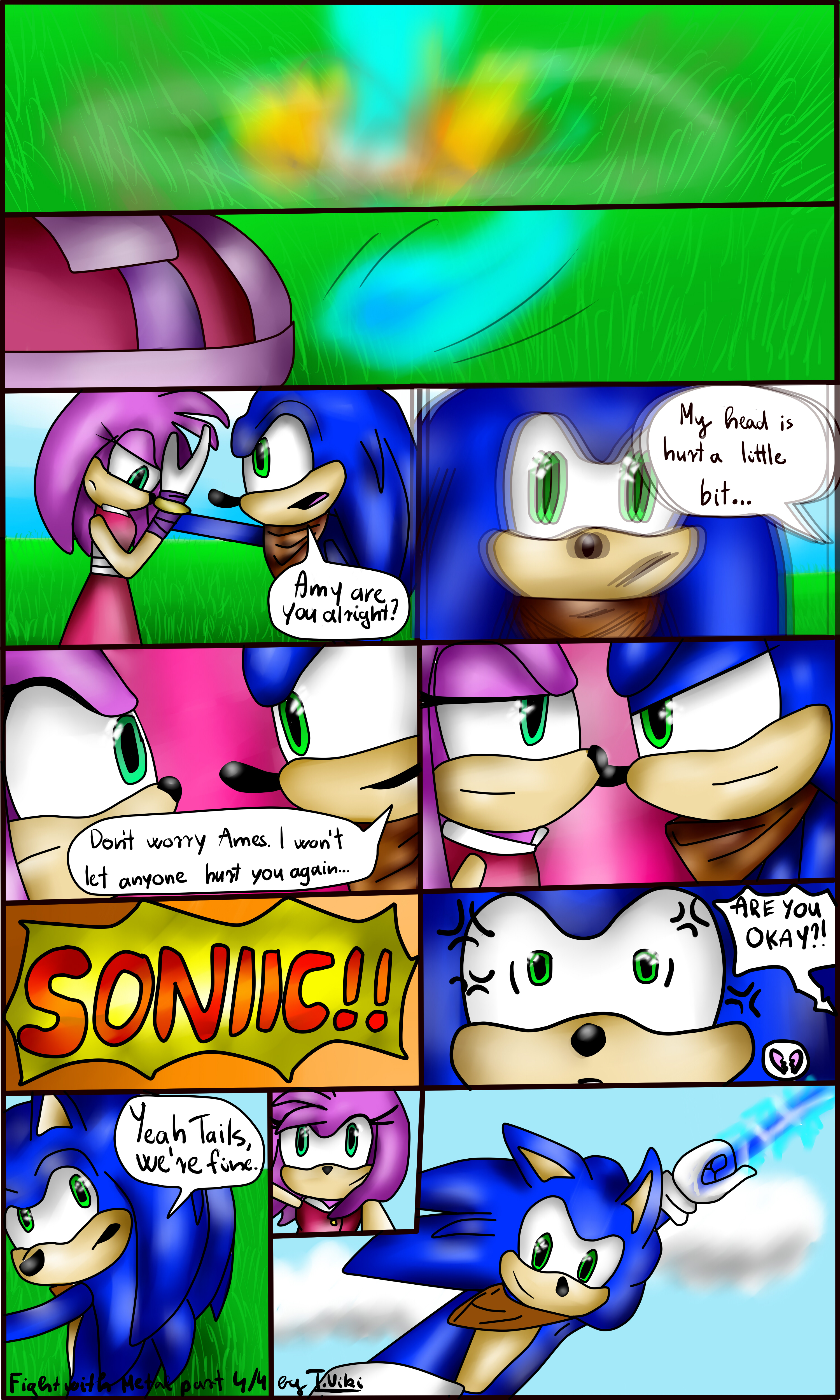 Sonamy short comic: Fight with Metal part 4/4 by TothViki