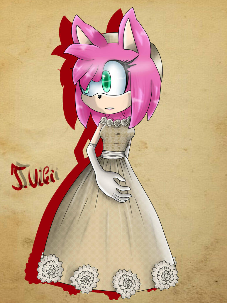 Amy Rose in medieval costum by TothViki