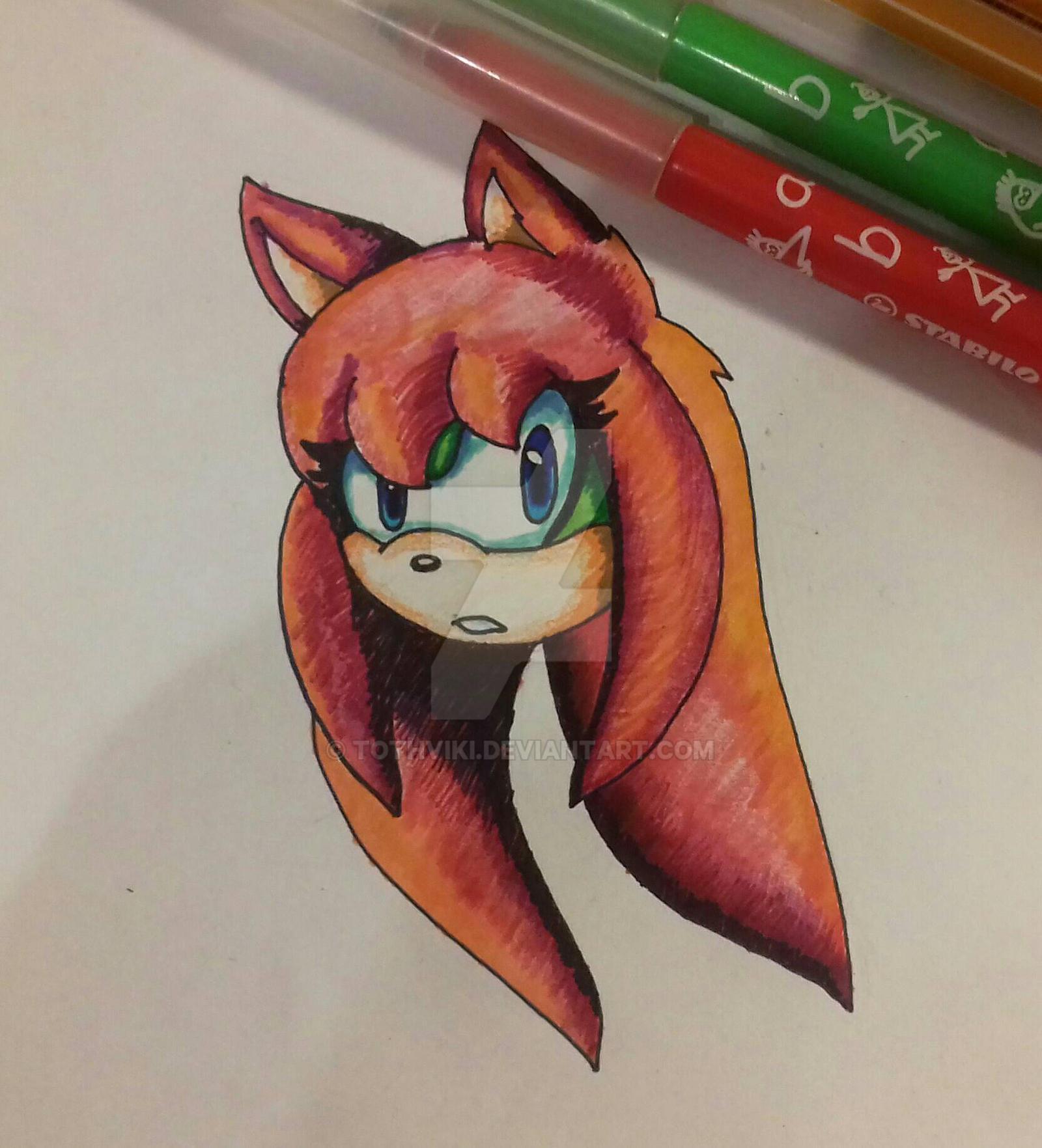 Viki (felt pen drawing) by TothViki