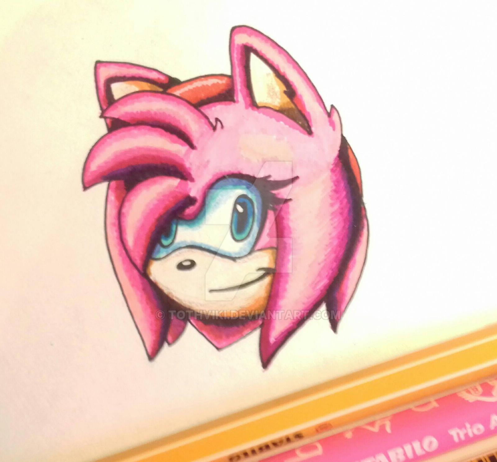Amy (felt pen drawing) by TothViki
