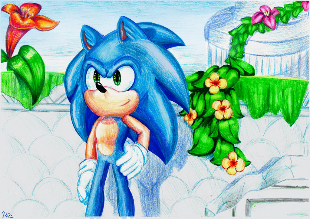 Sonic in Sky Sanctuary by TothViki
