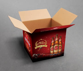 Beer Corrugated Carton Packaging Design by nilotpalsingha