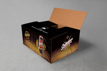 Beer Can Corrugated Carton Packaging Design by nilotpalsingha