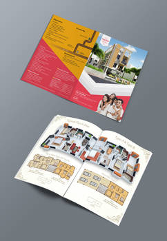 Bifold brochure for real estate company