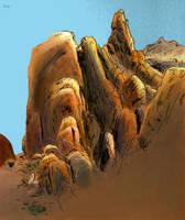 Rock Study by BrianDanielWolf
