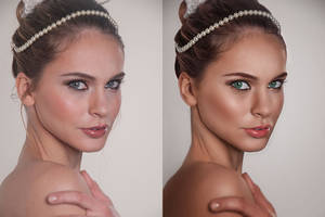 Wedding Portrait Retouch - BeforeAfter