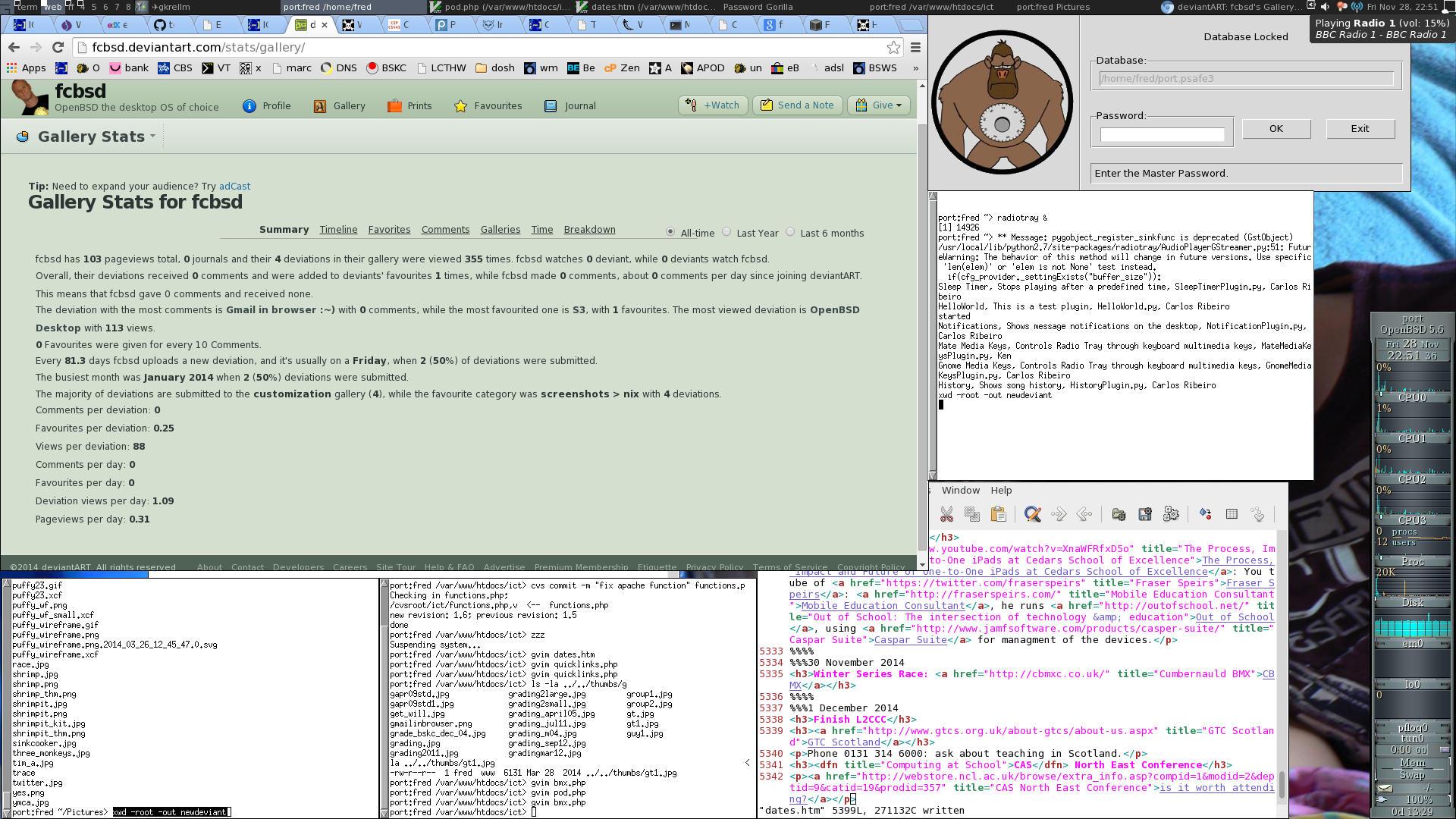 Openbsd Desktop Screenshot Openbsd 5 6 Desktop by