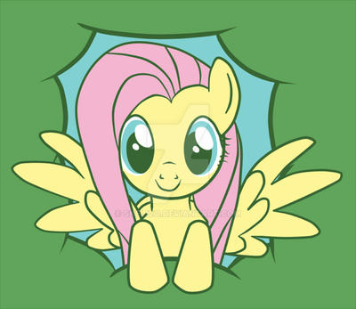 tshirt: peeky fluttershy by pumkat