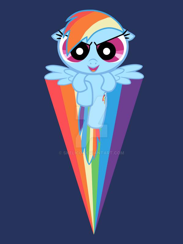 tshirt: rainbowpuff by pumkat