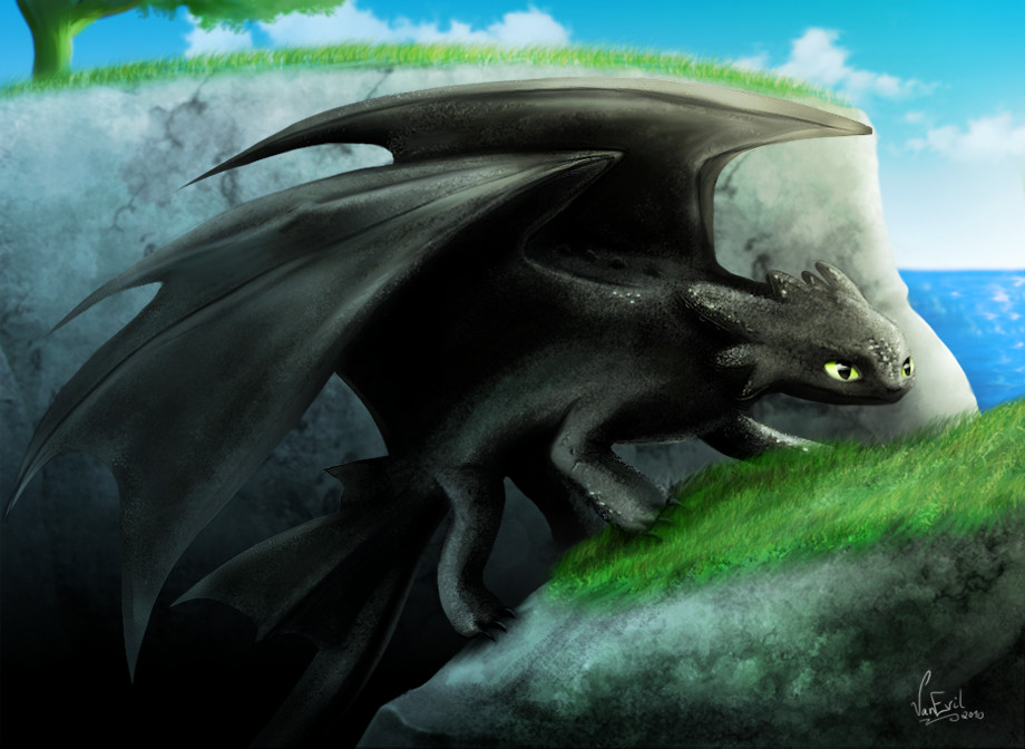 toothless the night fury by vanevil