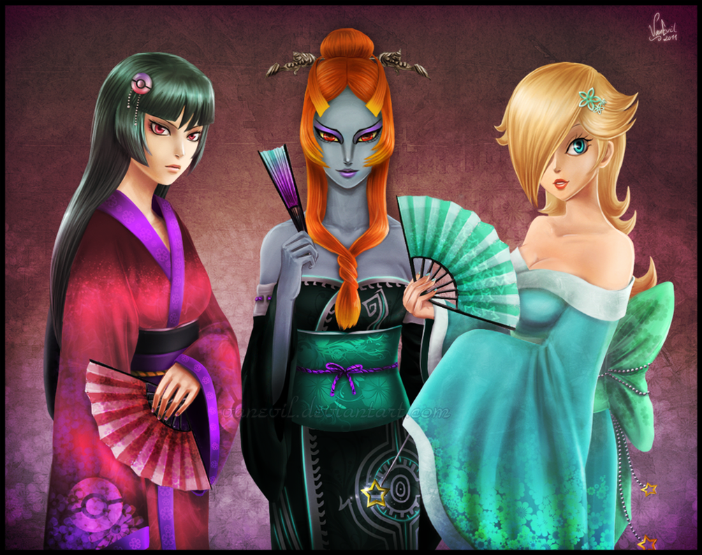 Kimono Girls by VanEvil