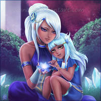 Magic with Big Sis by VanEvil
