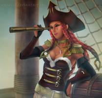 C: Pirate Reba by VanEvil