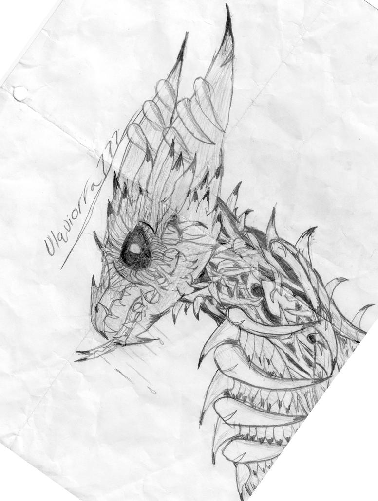 Awesome Best Dragon Drawing By Coolcrows ...
