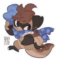 (GIFT) Blueberry Muffin Pagedoll by Kitkabean