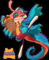 (CLOSED) #210 Amazon Bavom - Fruit Dragon by Kitkabean