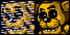 Five Sprites At Freddy's - Golden Freddy by Fawful117-the-Epic