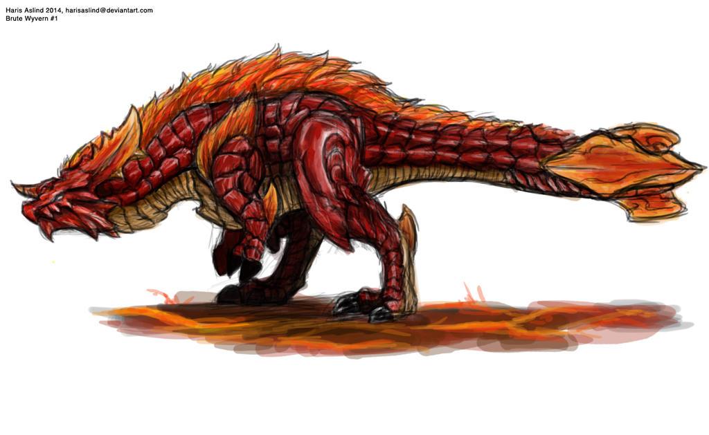 Brute Wyvern By Harisaslind On DeviantArt