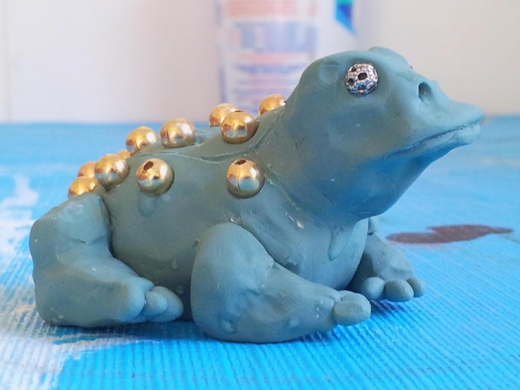 Polyclay Frog by Dragonsdoom