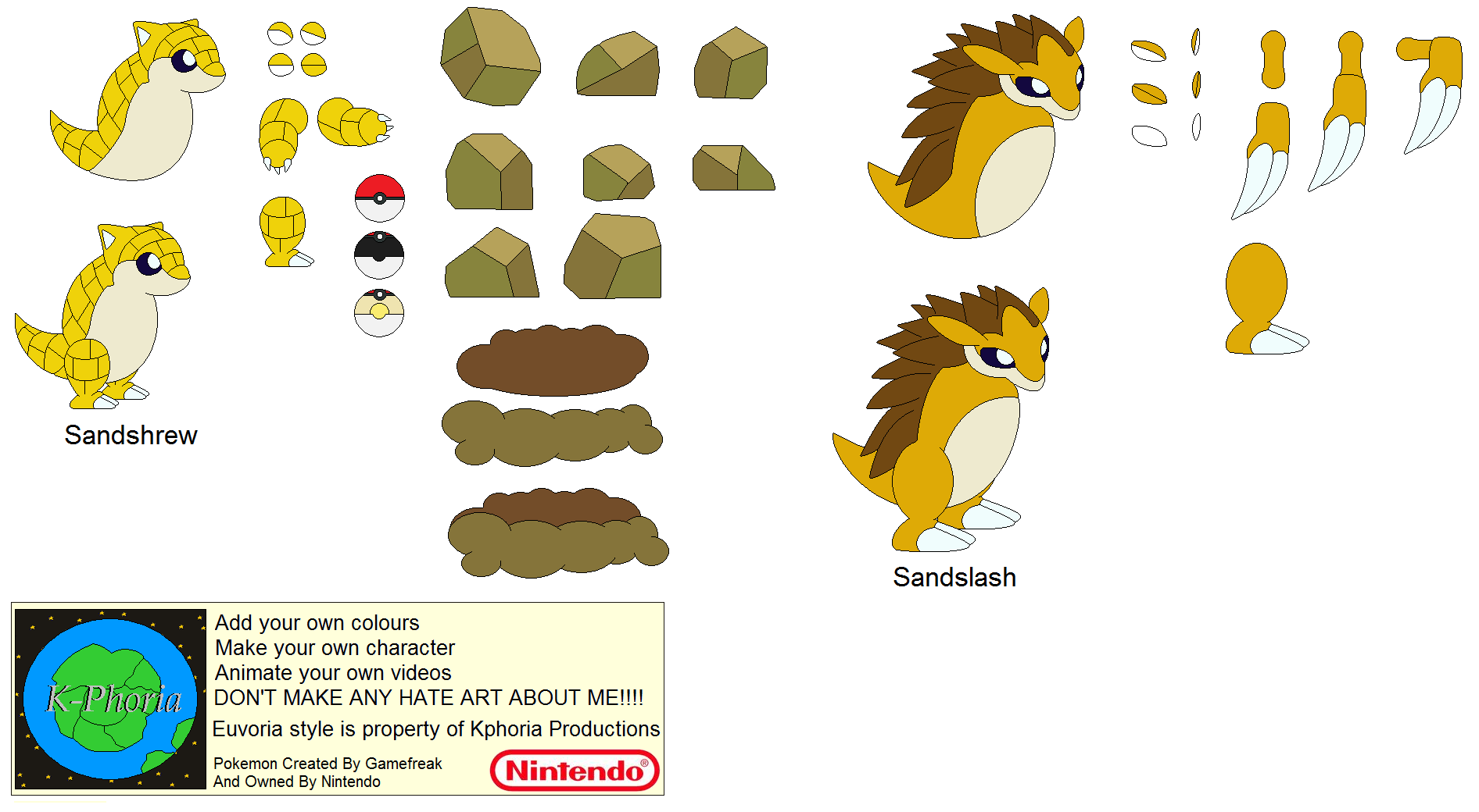 Character Builder-Sandshrew by Kphoria on DeviantArt