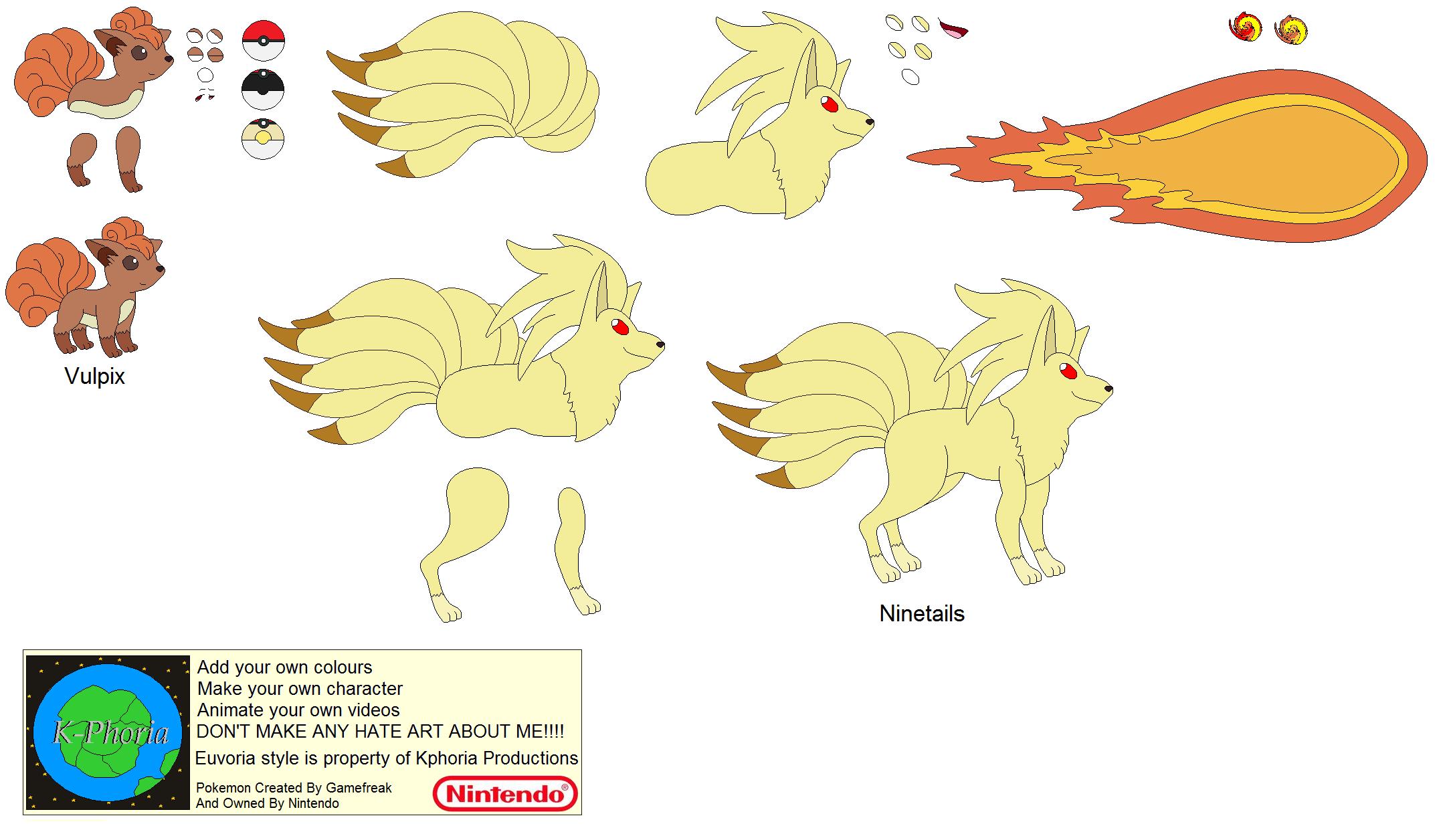 Vulpix Evolution Character builder-vulpix by