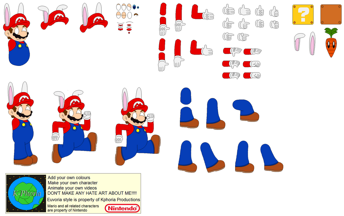 character builder bunny mario by kphoria on deviantart. Black Bedroom Furniture Sets. Home Design Ideas