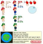 Character Builder-Baby Mario Bros.
