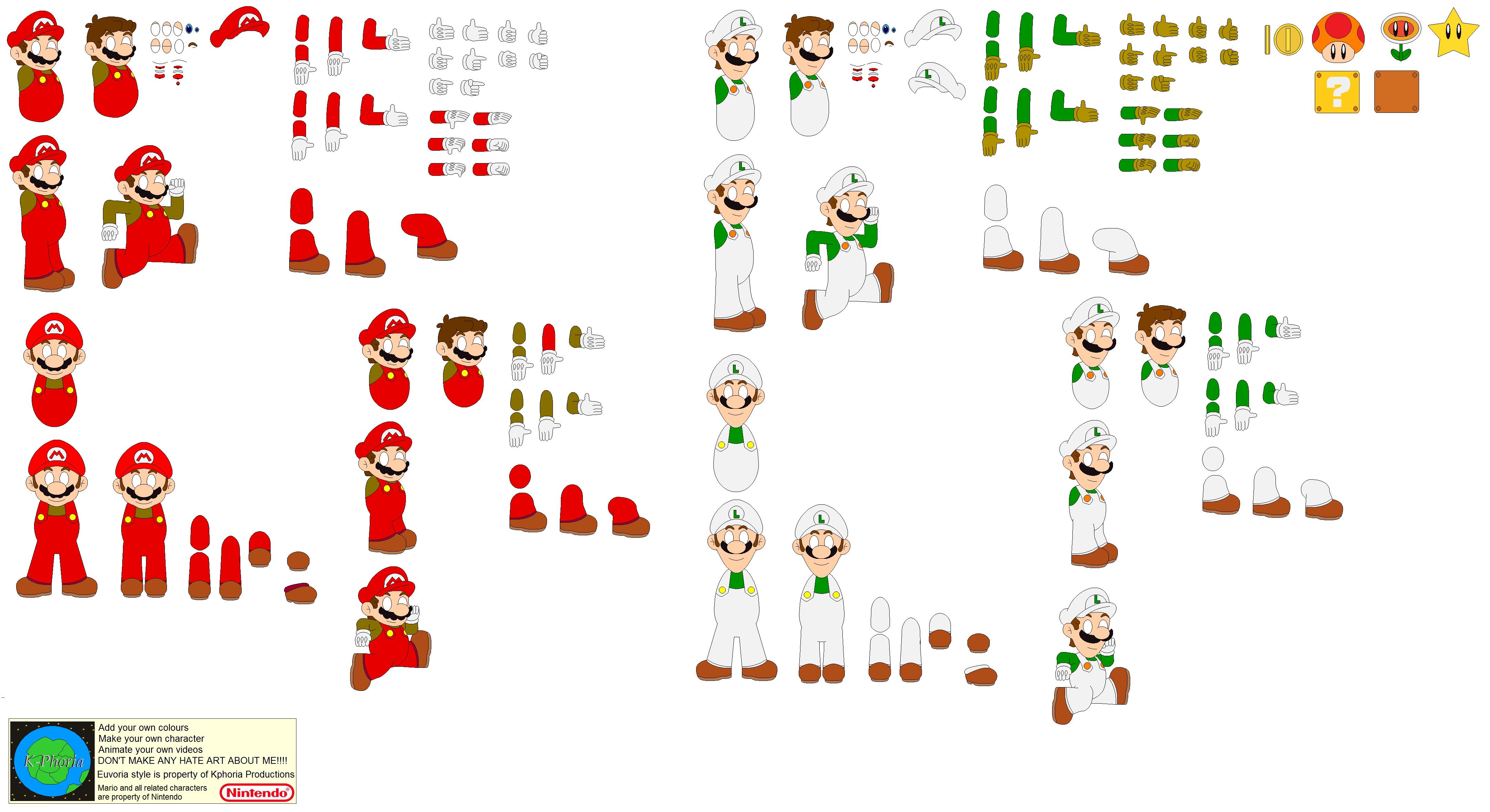 Character Builder Super Mario Bros Nes By Kphoria On Deviantart