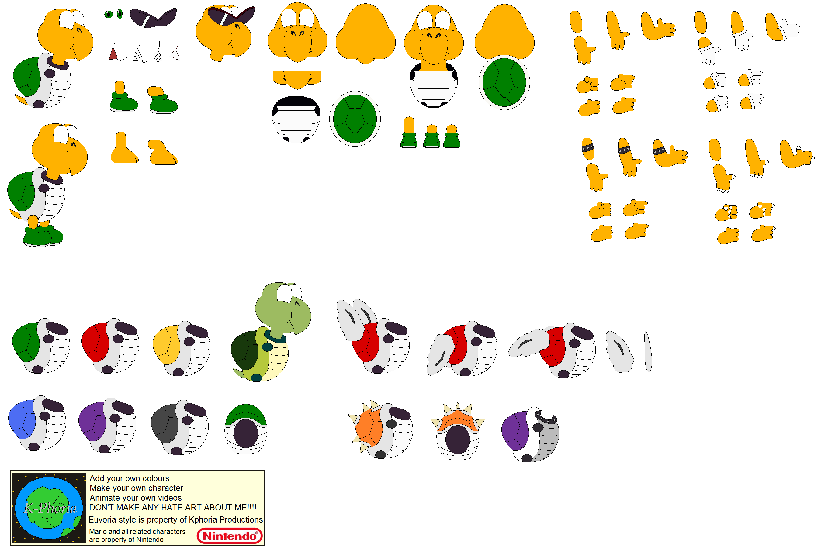 Yoshi Character Design : Character builder koopa troopa by kphoria on deviantart