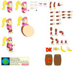 Character Builder-Dixie Kong