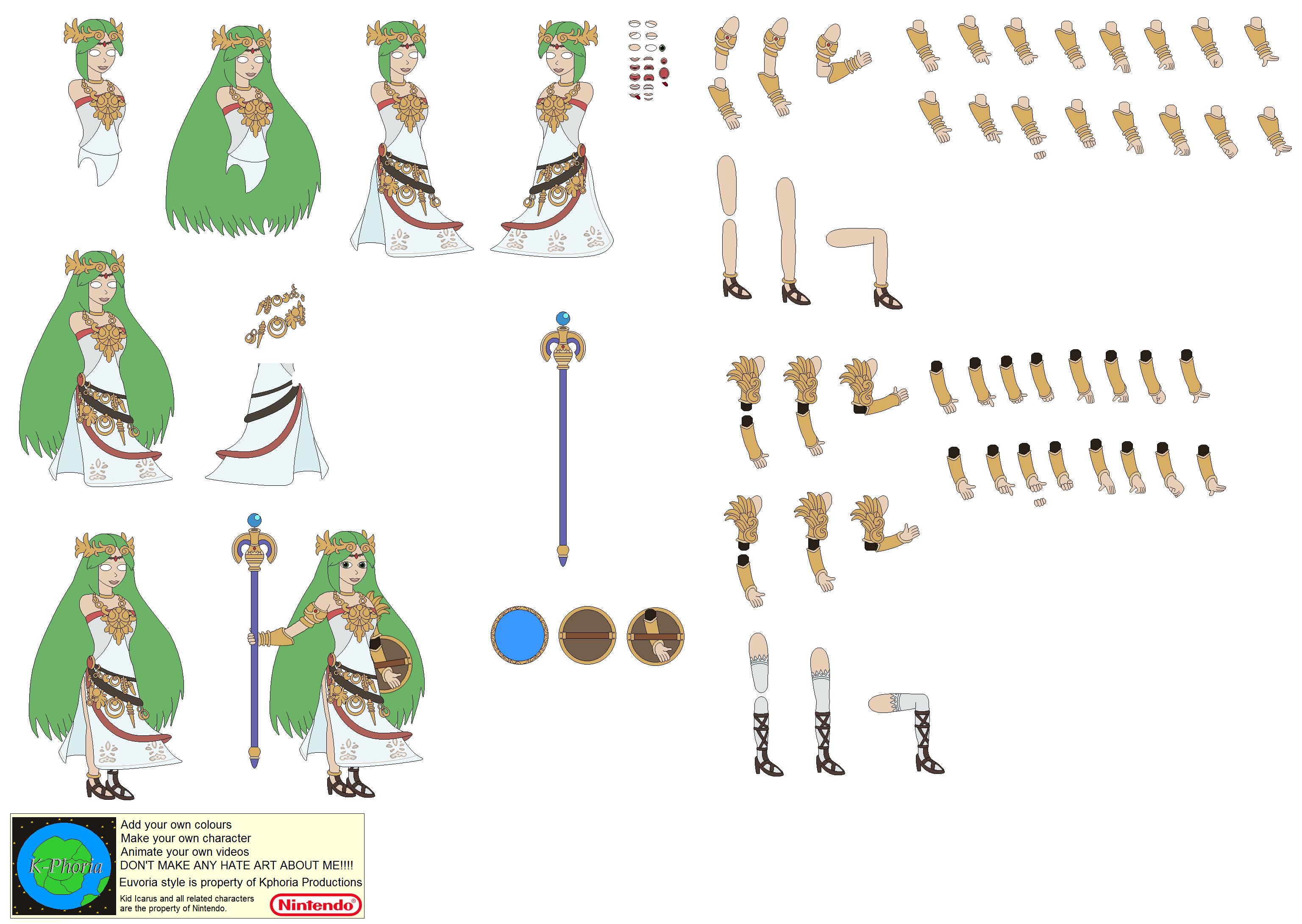Character Builder Palutena By Kphoria On DeviantArt