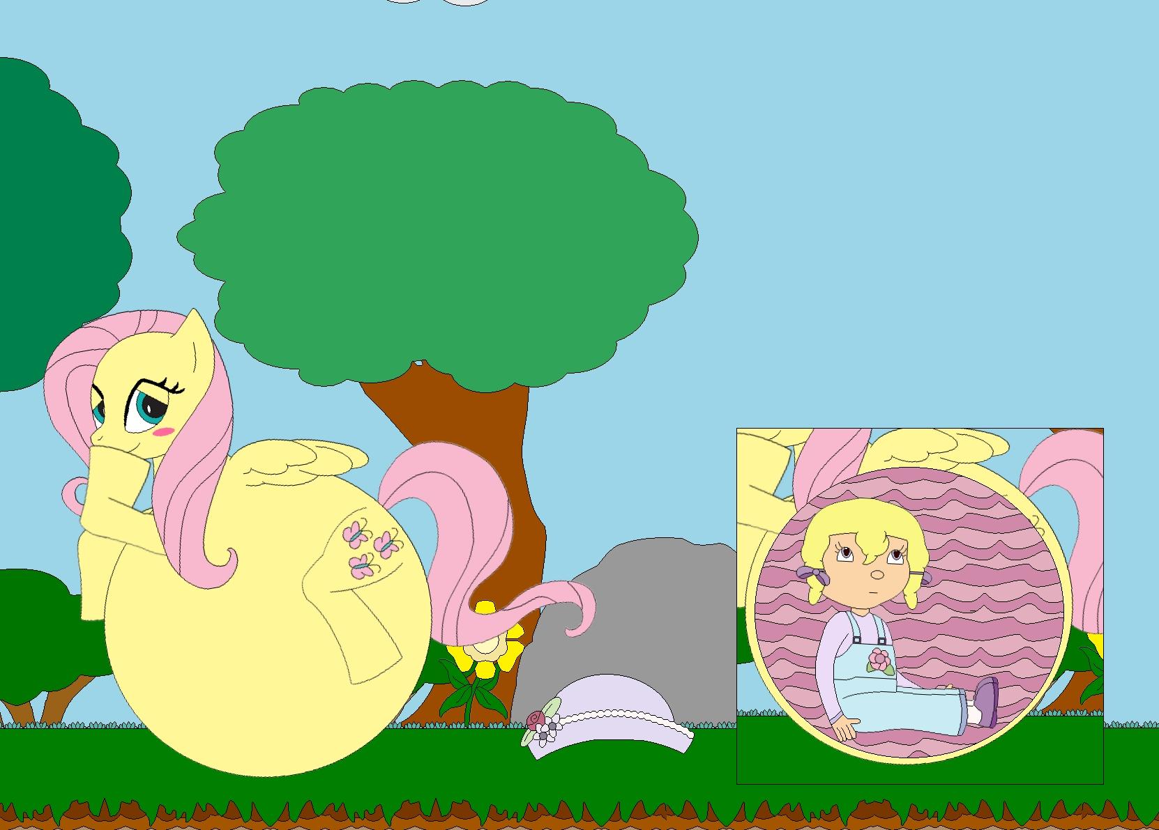 Fluttershy's Bashful Belly by Kphoria on DeviantArt