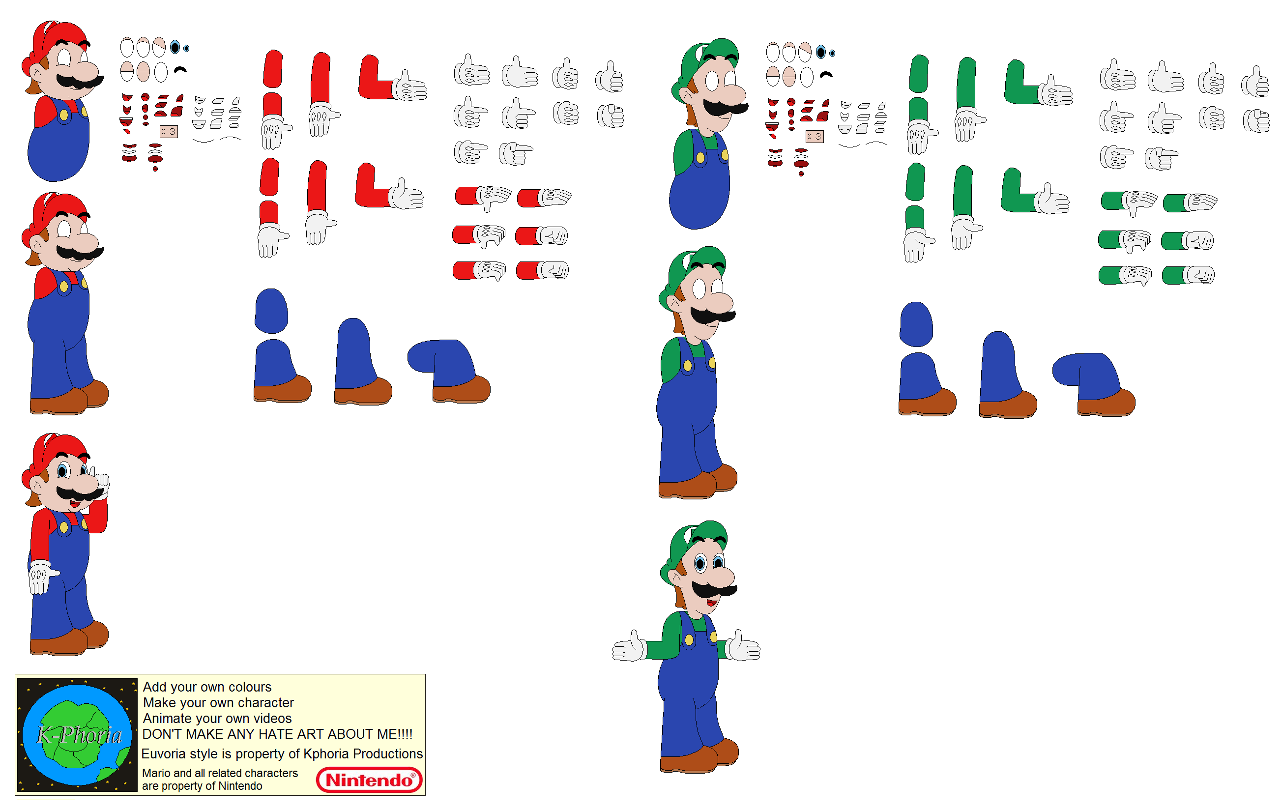 mario character builders by kphoria on deviantart. Black Bedroom Furniture Sets. Home Design Ideas
