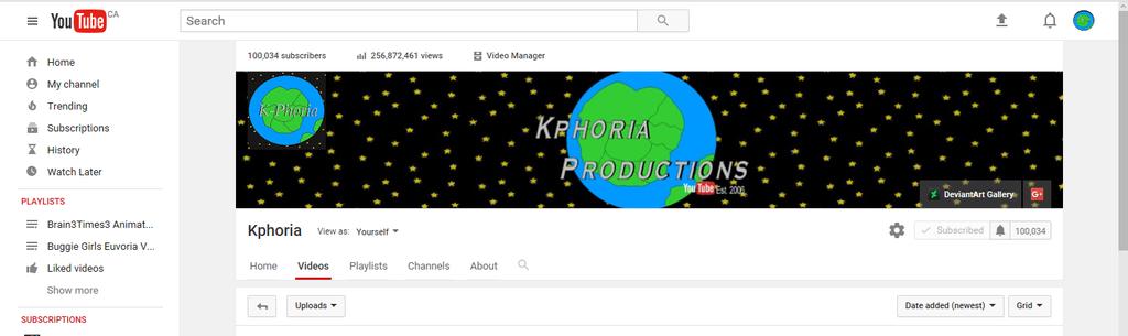 Channel Kphoria 100,000+ Subs by Kphoria