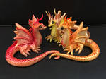 Polymer Clay Miniature Dragon Sculptures